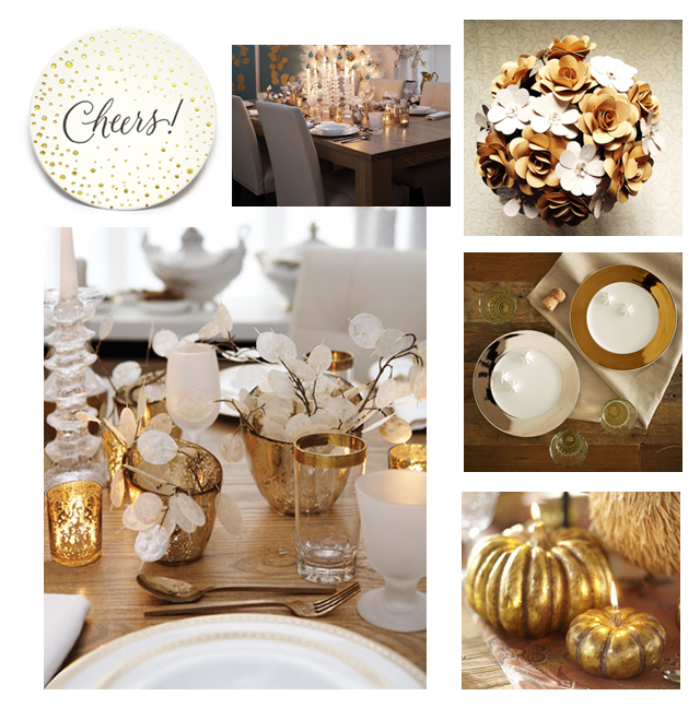 Setting the table in gold and white - a miusmie