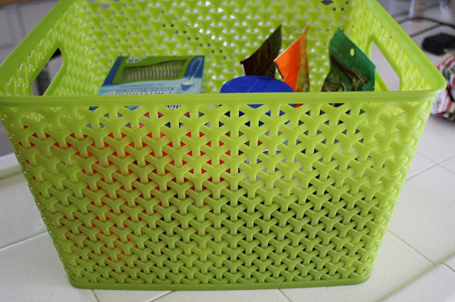 party basket, party supplies