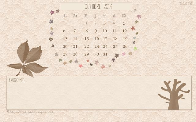 Calendario de Octubre (iniciativa Blogueros Fandangueros)
