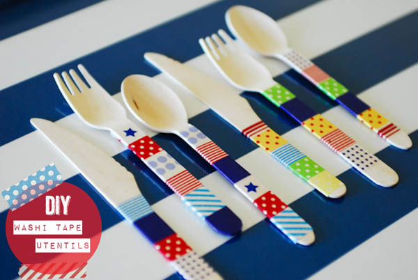 washi tape cutlery