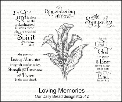 Our Daily Bread designs Loving Memories