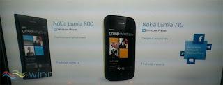 Nokia Lumia 710 & Nokia Lumia 800 Pre-Order Price and Specifications