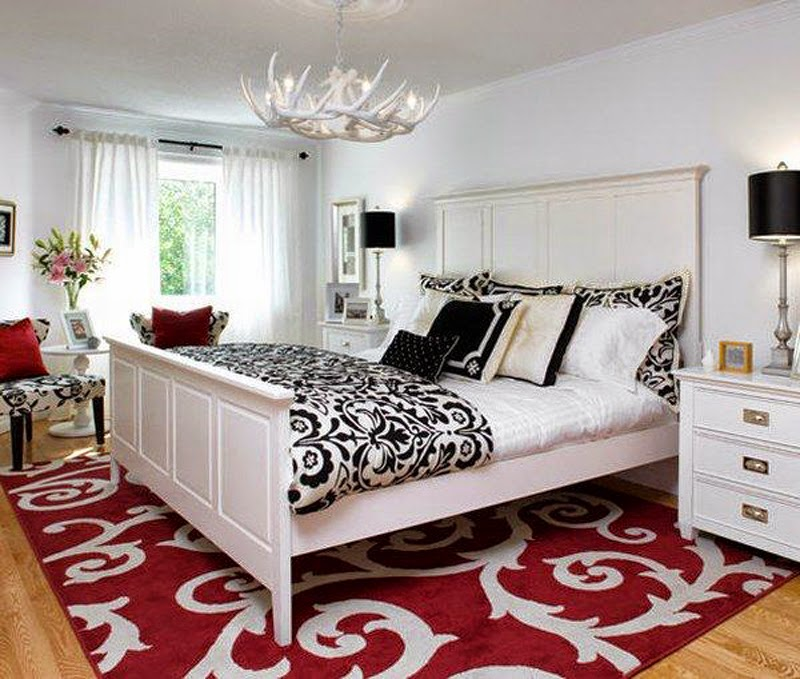 red carpet in the bedroom