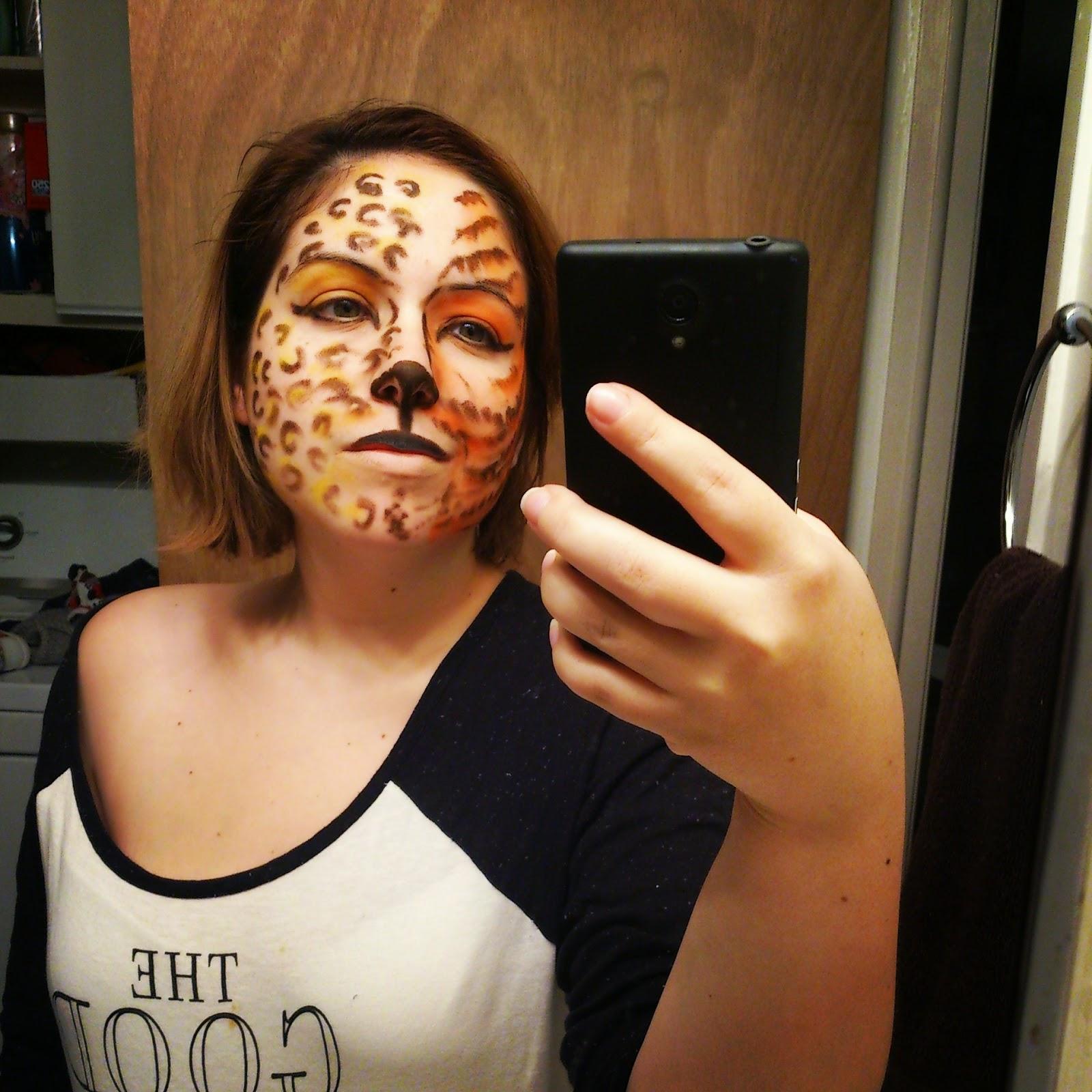 Maquillage halloween les f lins etre radieuse par josianne brousseau - Maquillage deguisement visage ...