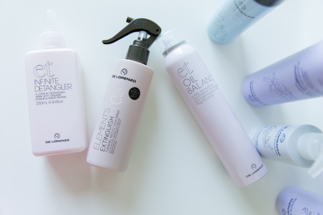 De Lorenzo hair care review. Infinite Detangler, Elements Extinguish, et Oil Balance. How to manage frizzy hair & fly aways.