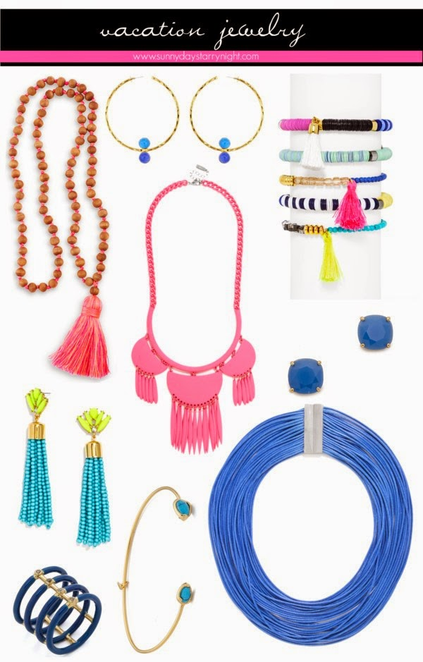 jewelry to pack for a beach vacation