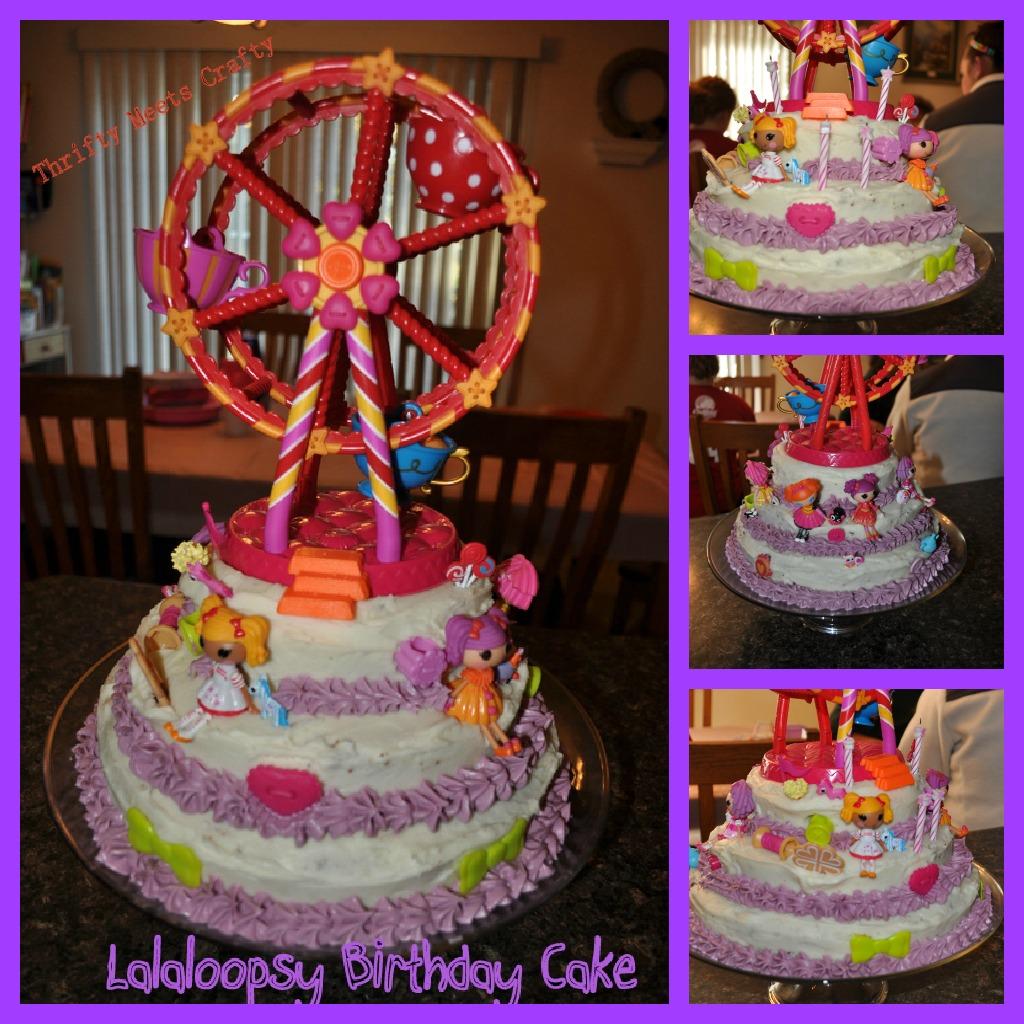Thrifty Meets Crafty Lalaloopsy Birthday Cake
