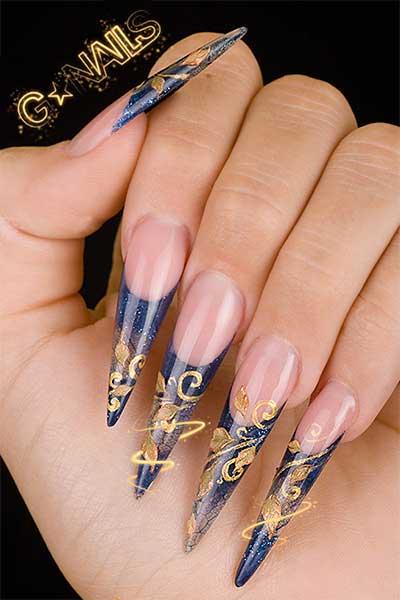 дизайн острых ногтей 2012: