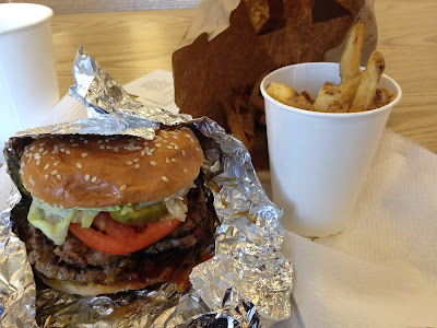 Why you shouldn't go on a diet this year: Bacon Burger and Fries from Five Guys