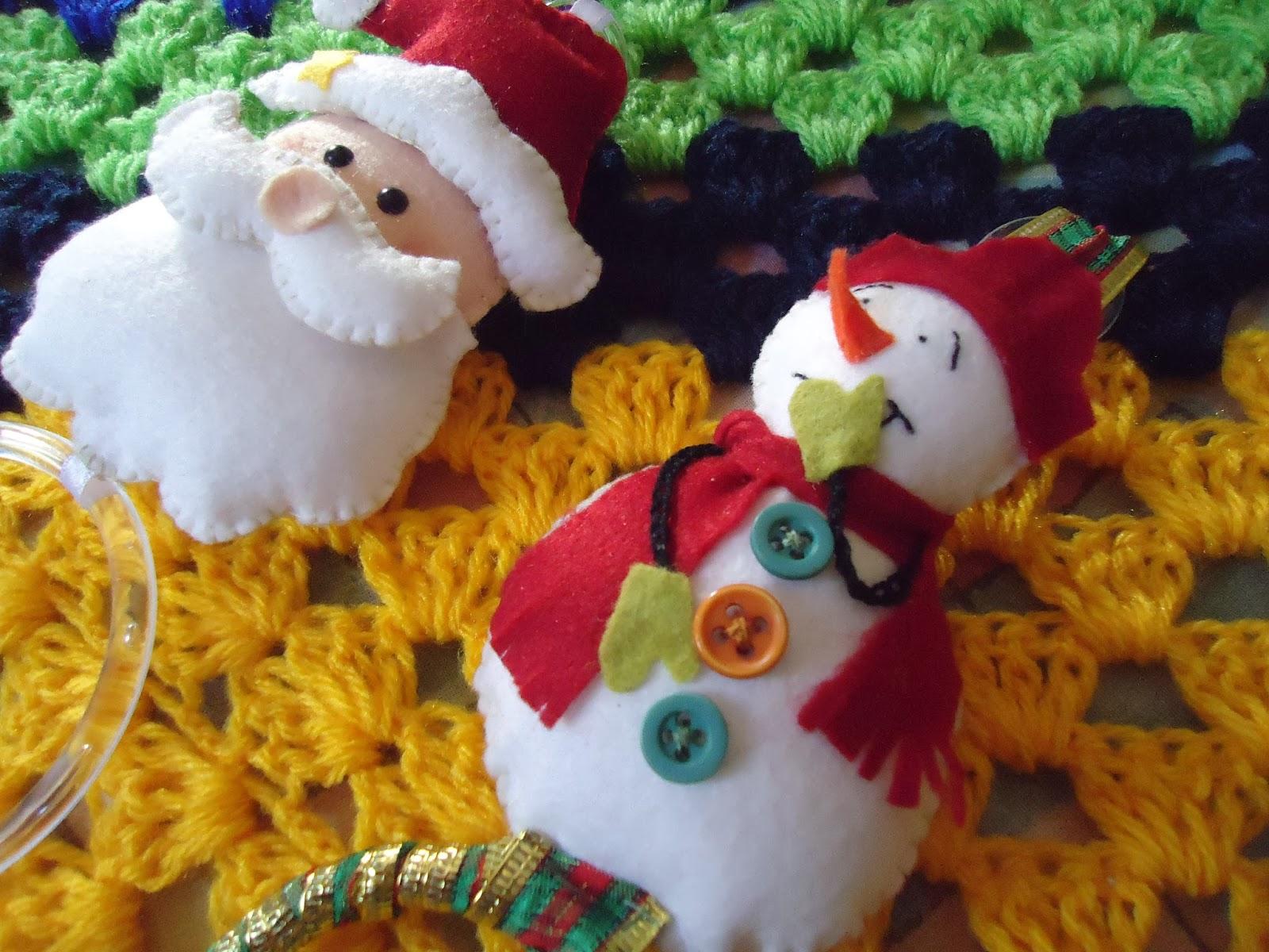 Artesanato Tecido Franzido ~ Artesanato e Reciclagem Lado a Lado Artesanato em Feltro para o Natal!!!