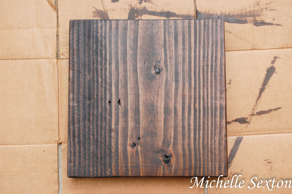 stained wood board