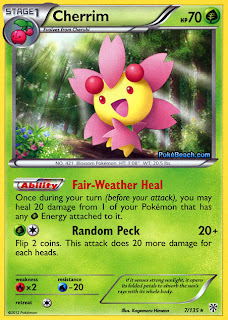 Cherrim Plasma Storm Pokemon Card