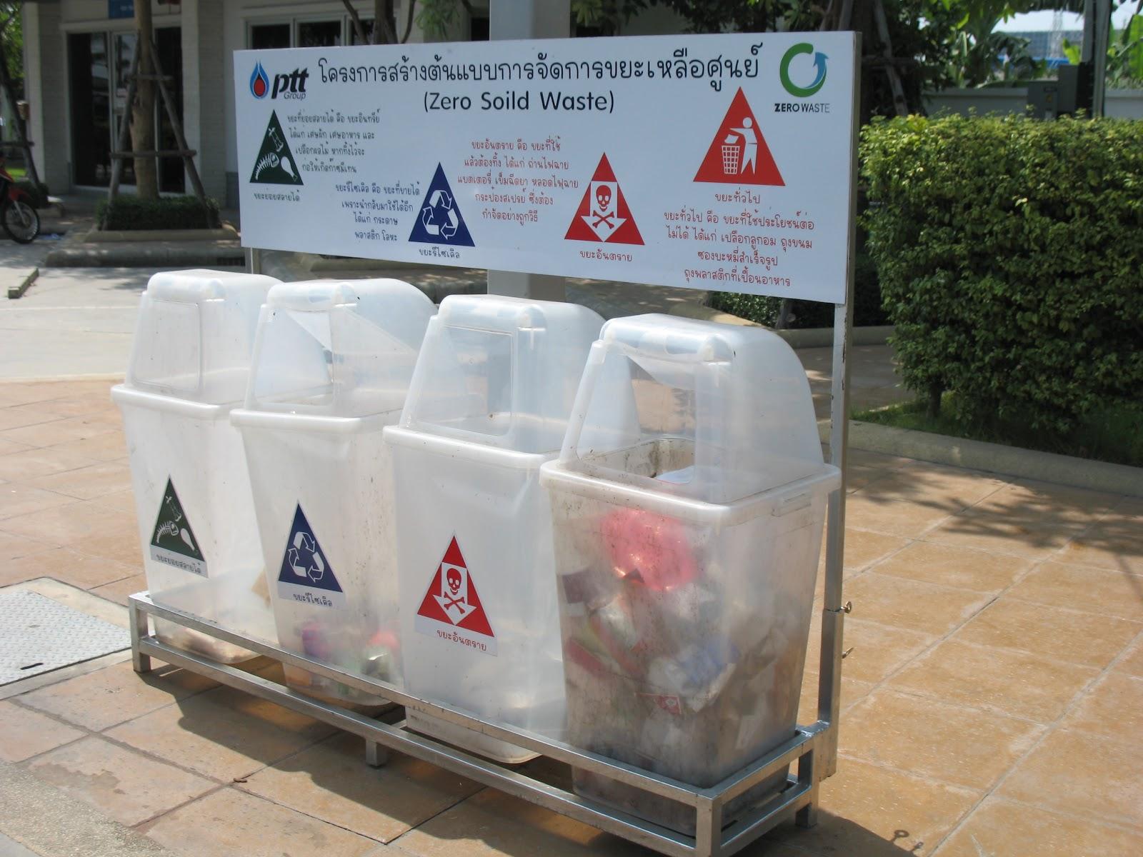 การจัดการขยะ ประเภทของขยะ ถังขยะ