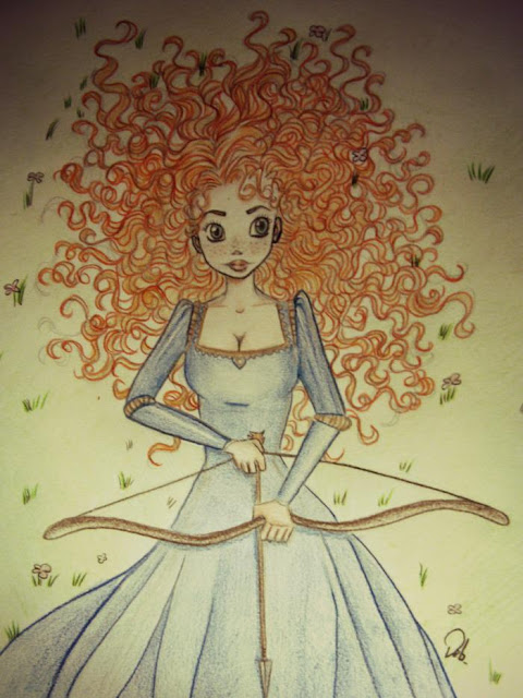 Debby arts merida princess disney principesse disney for Disegni a matita disney