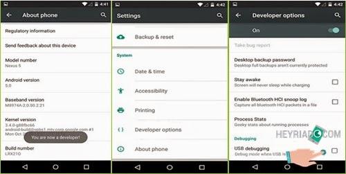 Mengaktifkan USB Debugging di Android