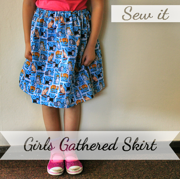 Sew yourself agirls gathered skirt