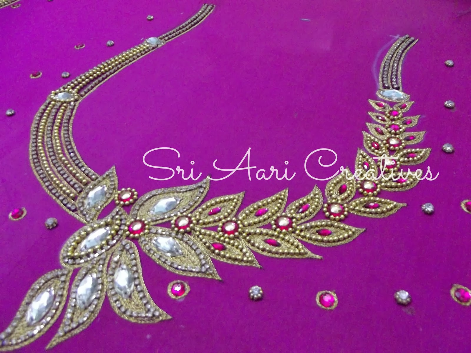SRI AARI CREATIVES Aari Embroidery Bridal Blouse Designs