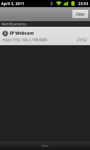IP Address on IP Webcam