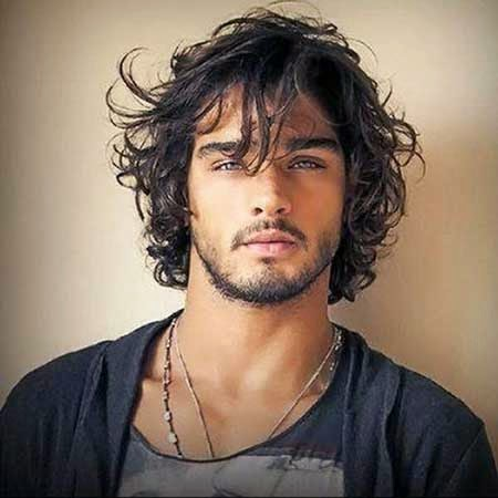 Messy Curly Hairstyles Men 2014