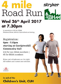4 mile race in Carrigtwohill in E.Cork...Wed 26th Apr 2017