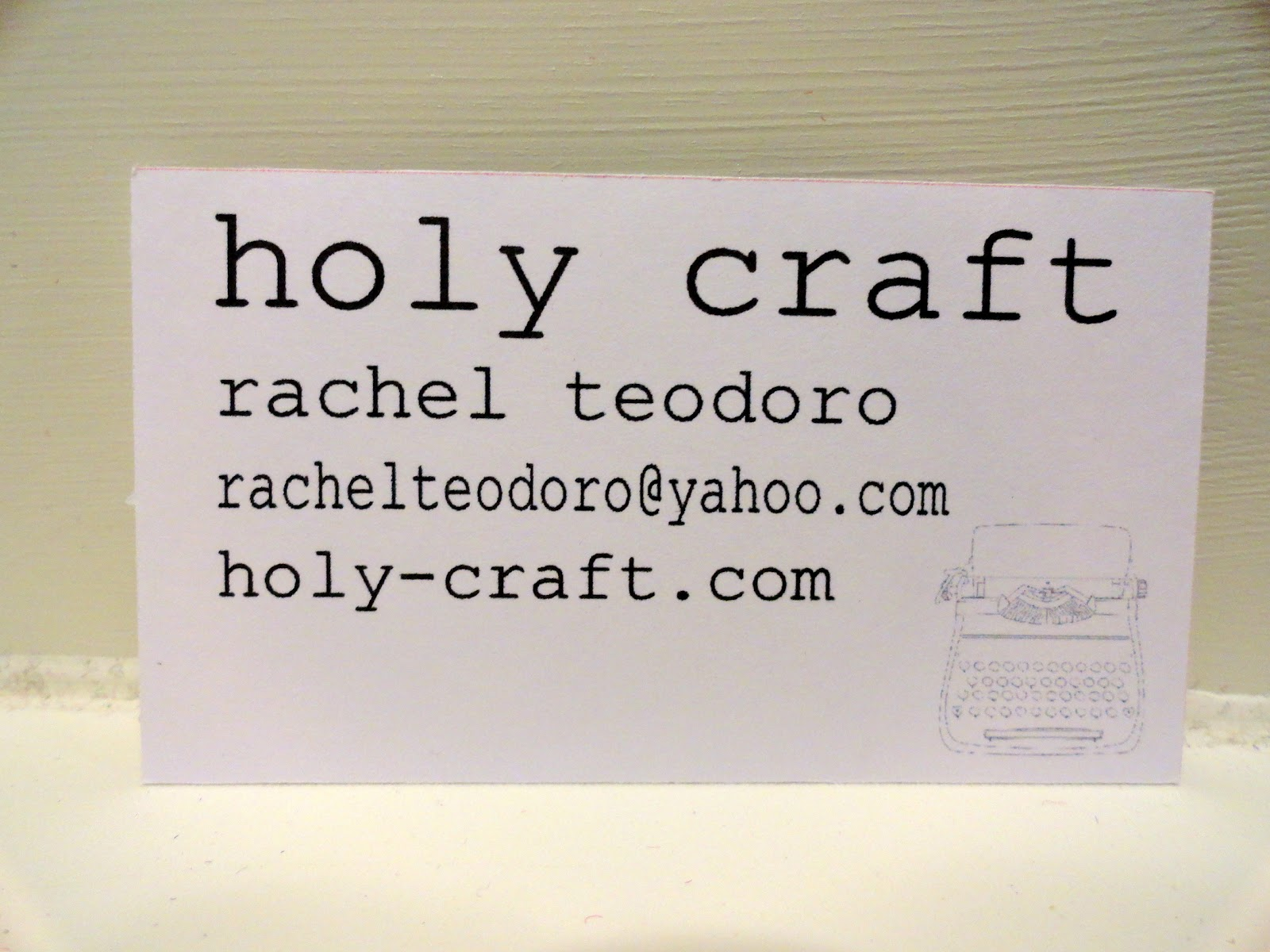 Handmade business cards with the Silhouette machine - Rachel Teodoro