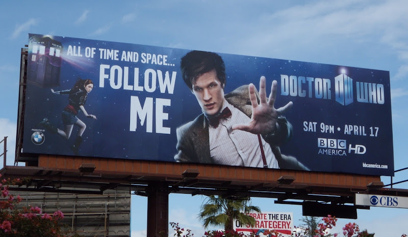 Doctor Who season 5 TV billboard