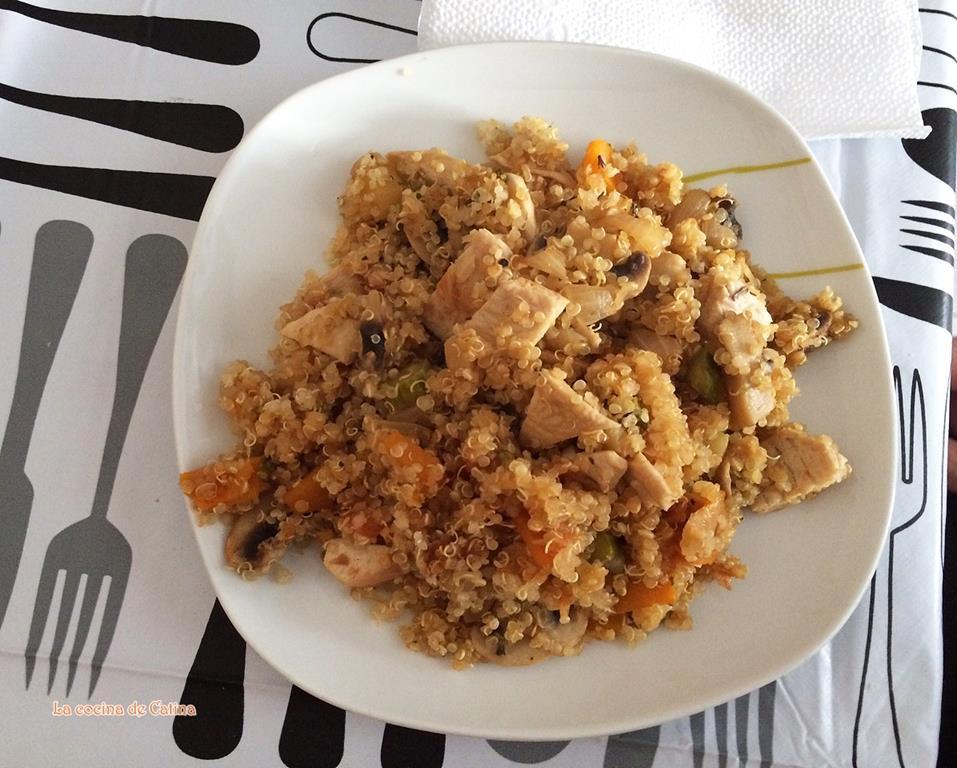 La cocina de catina quinoa con pechuga y verduras salteadas for Cocina quinoa con verduras