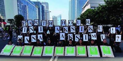 Ini Agenda Acara Kampanye Earth Hour di Jakarta
