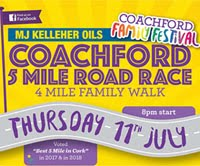 5 mile race w of Cork City - Thurs 11th July 2019