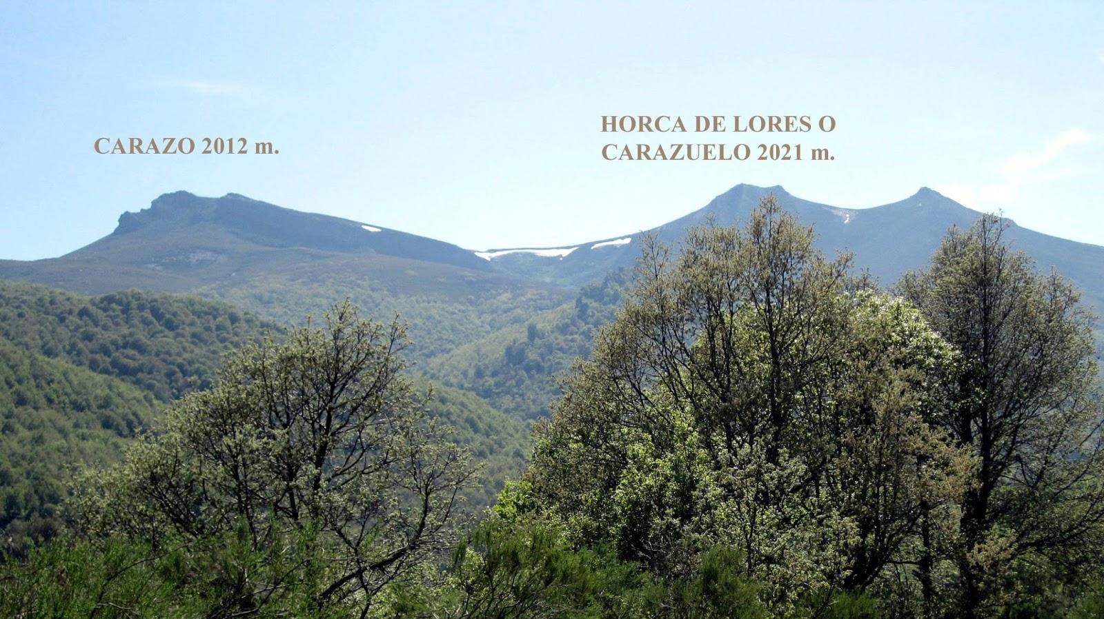 Carazo y Horca de lores o Carazuelo