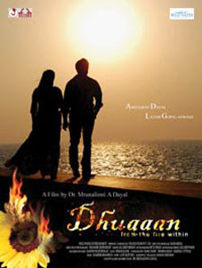Dhuaaann (2012 - movie_langauge) - Amitabhh Dayal, Raj Babbar, Vikram Gokhale, Shivaji Satam, Rati Agnihotree, Soniya Kapoor, Navni Parihaar, Nissar Khan, Soumya Tondon, Paraag Chapekar, Sudipto, Sanjay Chouhan, Padmini Kolhapure, Dr. Mrunalinni A Dayal, Lakshmi Gopalaswami, Irshad Kamil, Yatin Karekar, Jehangir Chowdry, Sandesh Shandaliya, Milind Gunajee, Khwaish Sharma