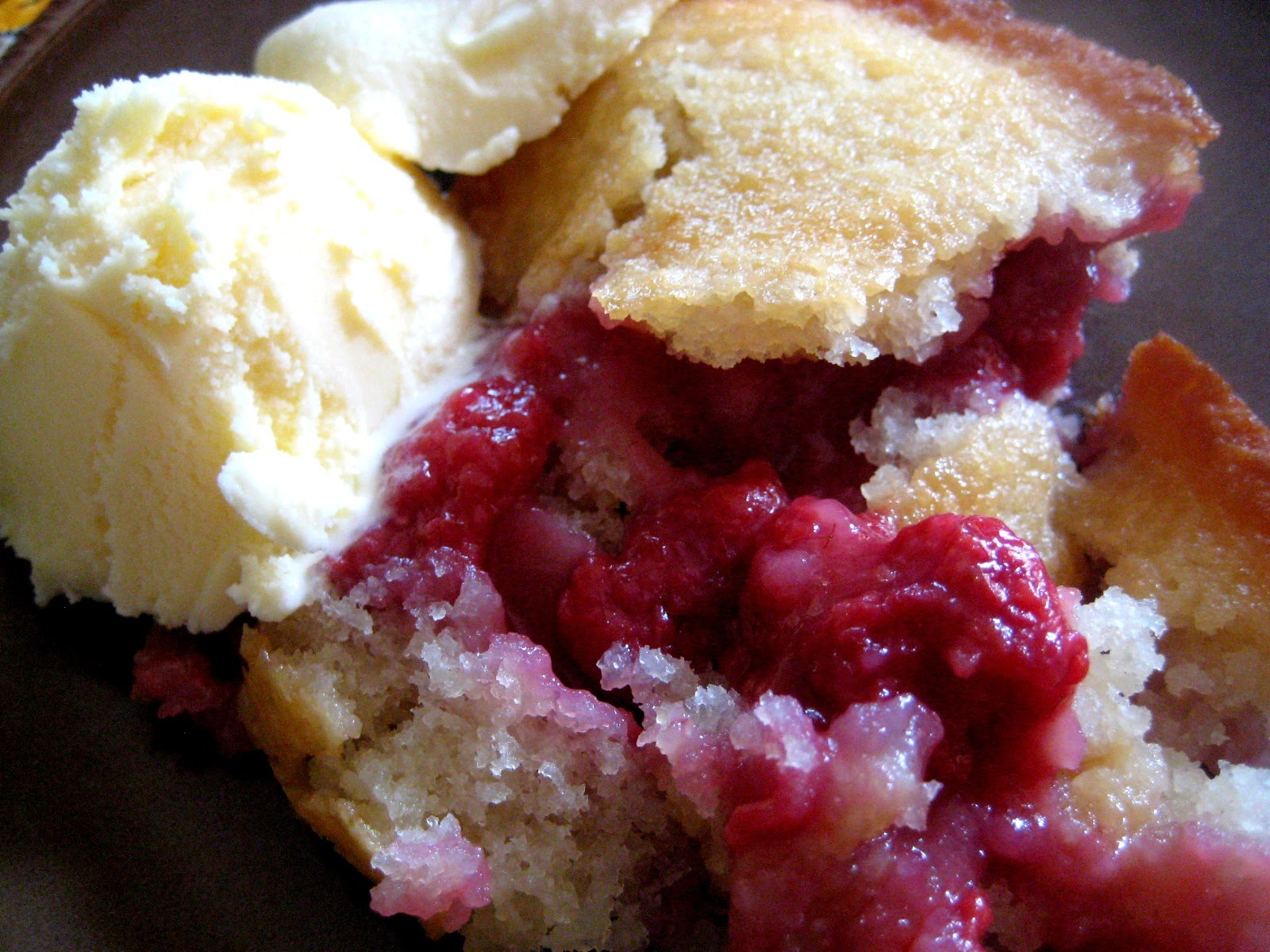 My Homemade Life: Easy Peasy RASPBERRY Cobbler. Eating Instructions ...