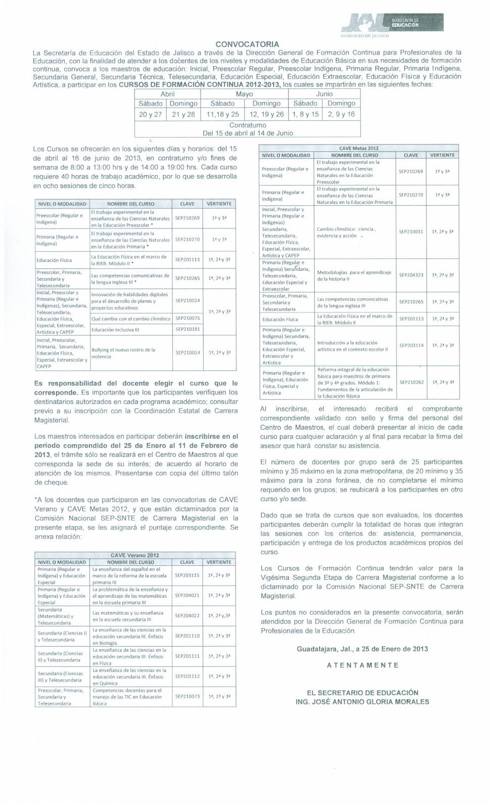 Centro de maestros 1431 cursos de formaci n continua 2012 for Convocatoria de maestros