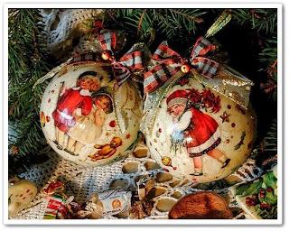 онлайн видео урок Декупаж новогодних шаров