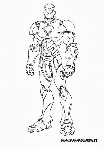 Disegni da colorare iron man for Iron man da colorare