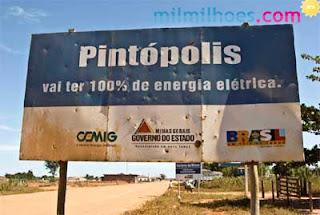 Cidades com nomes estranhos: Placa de Pintópolis