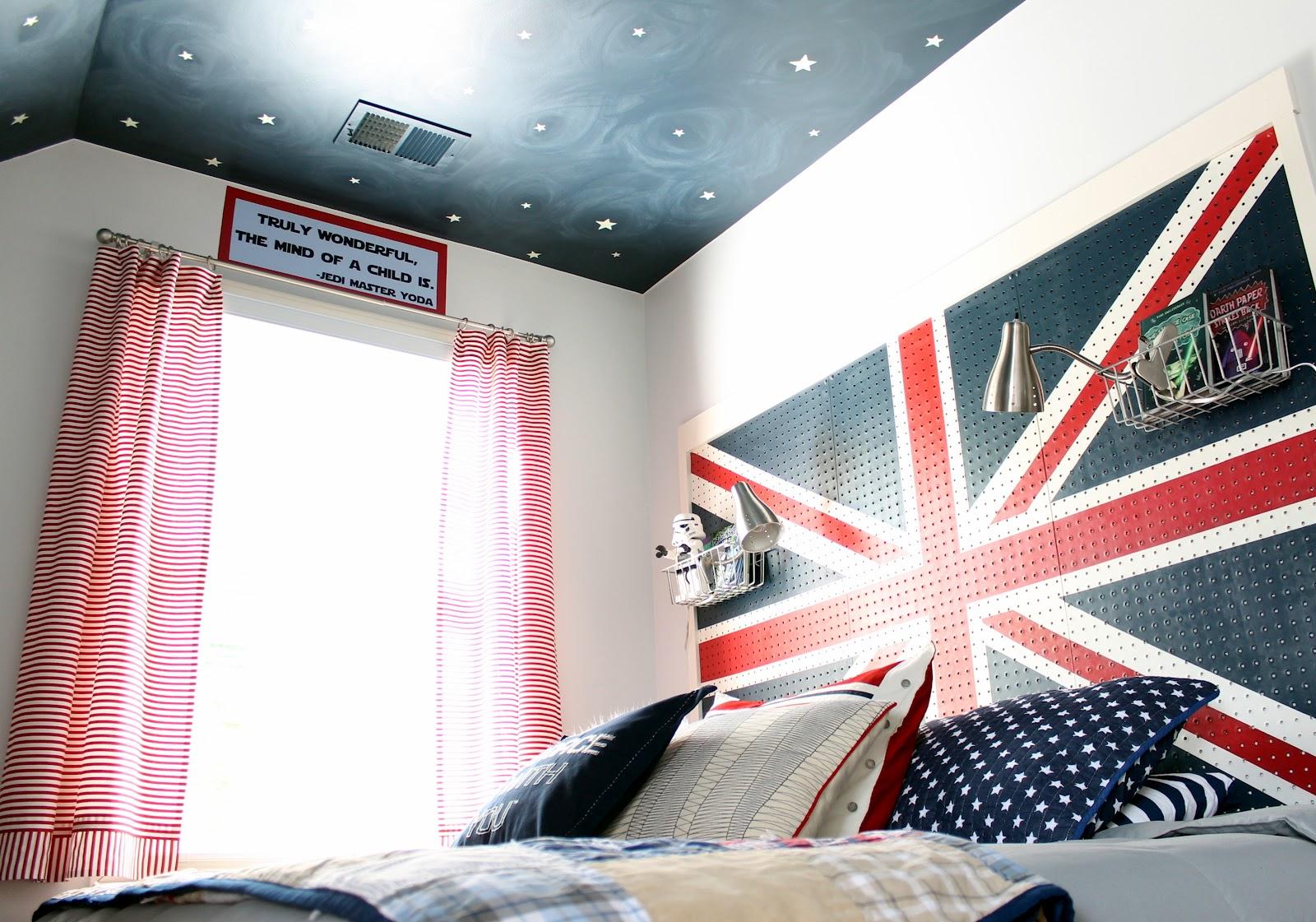 Union Jack Pegboard Headboard Children S Room Decor