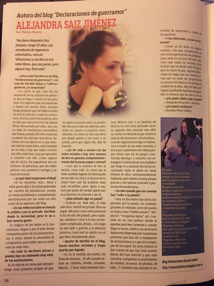 Entrevista para revista ACUA