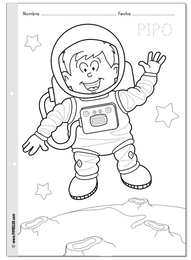 Dibujo de la luna para imprimir y colorear - Dibujos para