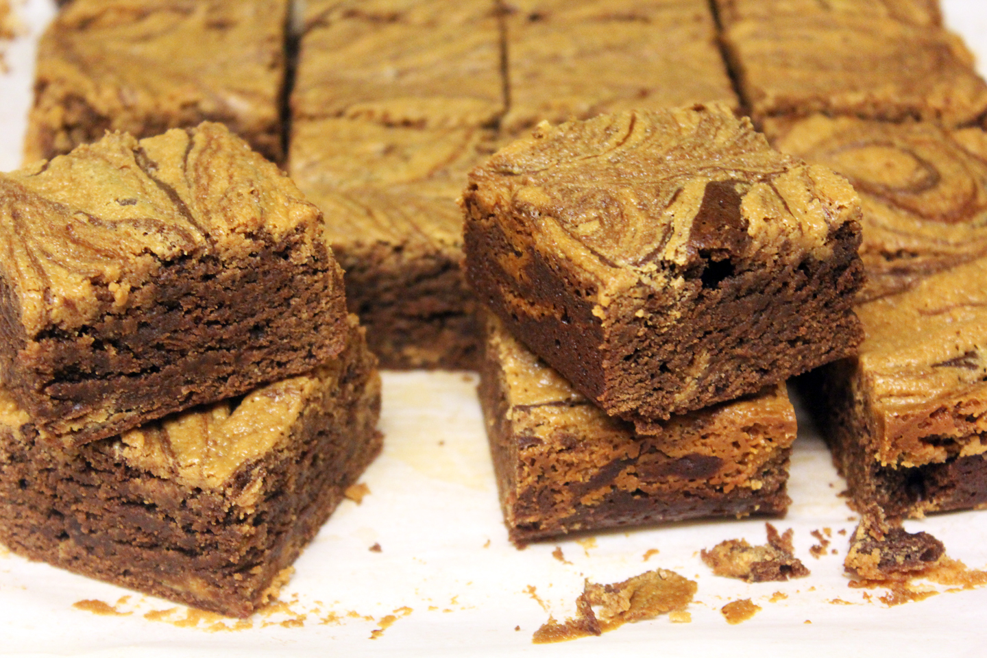 The No Pressure Cooker: Peanut Butter Swirl Brownies