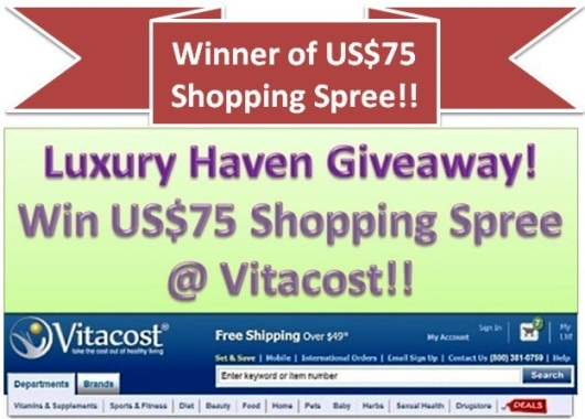 vitacost luxury haven giveaway