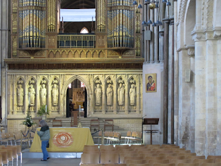 The nave of Rochester Cathedral, looking east