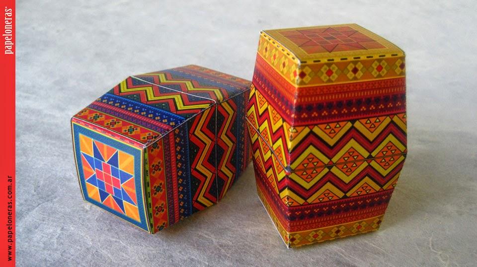 papertoys Papeloneras Huevos de Pascua DIY