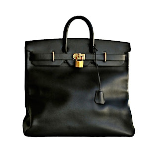 Vintage 1980's black Hermes Birkin bag with gold hardware