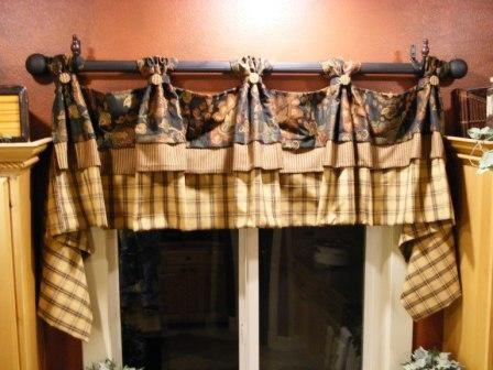 kitchen valance french country design. Black Bedroom Furniture Sets. Home Design Ideas