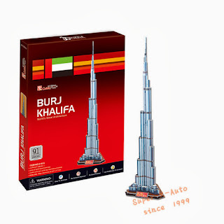 3D Puzzle Paper Model UAE Dubai Architecture Burj Khalifa DIY Jigsaw 91 Pcs