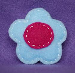 baby blue w/fuchsia