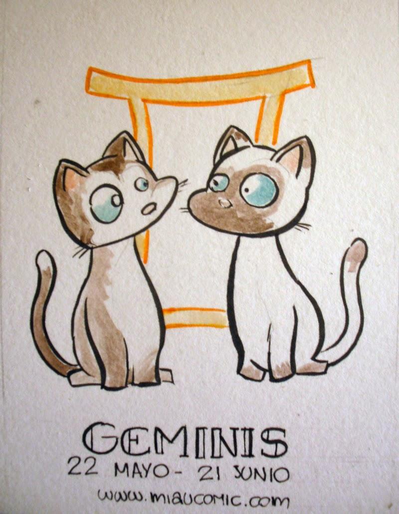 Zodiaco Gatuno signo de Geminis