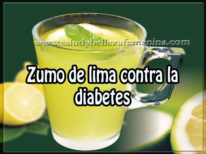 Salud y bienestar , zumo de lima contra la  diabetes