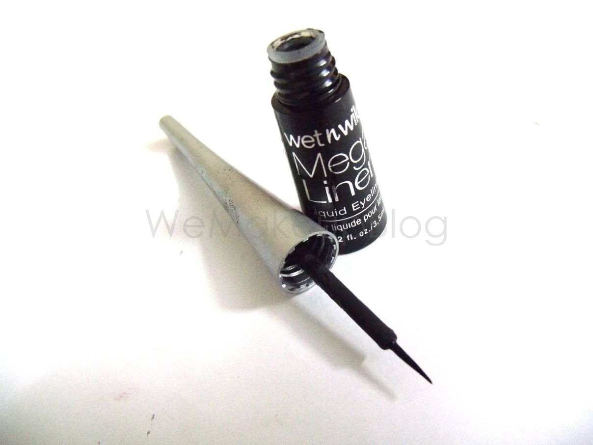 liquid eyeliner brush. wet n wild mega liner liquid eye in 861 black brush tip eyeliner